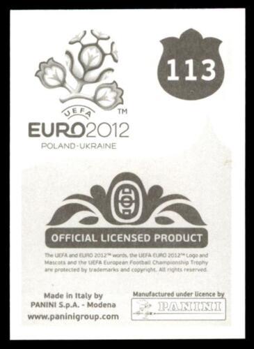 113 Igor Akinfeev Russia No Panini Euro 2012