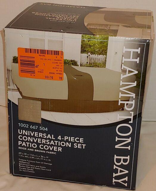 Hampton Bay Universal 4-Piece Conversation Set Patio Cover