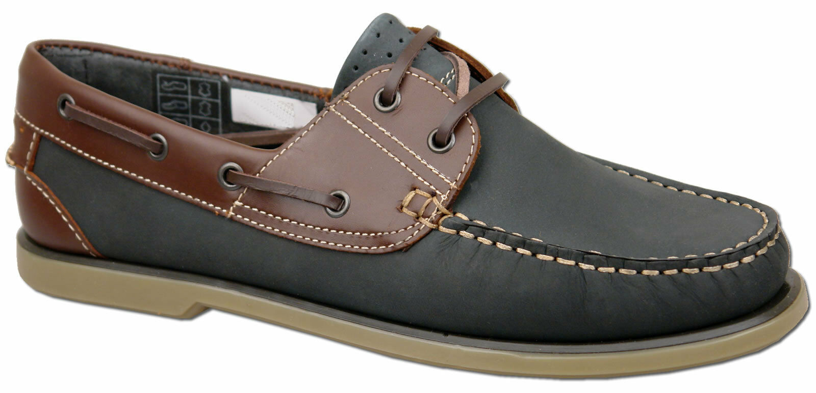 Mens Brand New bluee Lace Up Leather Moccasin Boat shoes Size 6 7 8 9 10 11 12