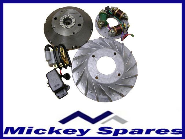 Stator Plate & Flywheel Electric Kit / Bajaj Zündung Polrad 6V to on