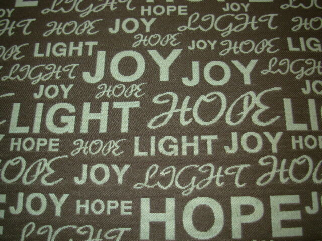 "~2 6/8 YDS~""HOPE JOY WRITING""~OUTDOOR UPHOLSTERY FABRIC FOR LESS~2 PIECE~"