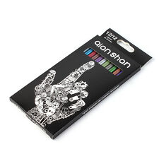 12Pcs Artist Metallic Black Wood Color Pencil Lapices De Colores Drawing Sketch