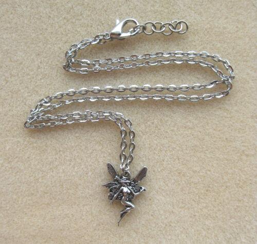 Pretty Fairy Angel Pendant Chain Necklace in Gift Bag Magic Faerie Fae Myth