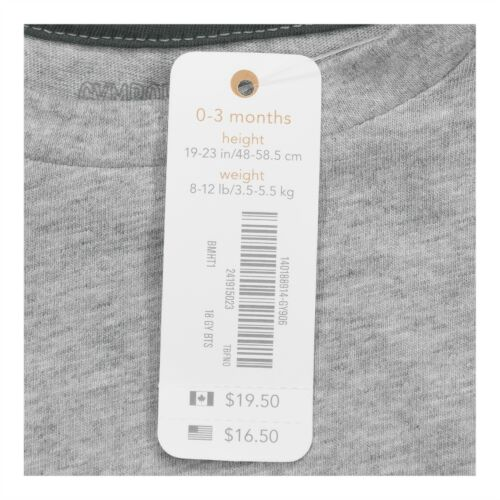 Gymboree Baby Boy Infant Clothes Multiple Sizes Gray Long Sleeve Tee T-Shirt