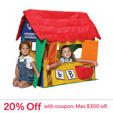 Lifespan Kids Bazoongi Learning Cottage Pop Up Play Tent Indoor Cubby House Toy