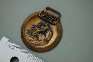 BUCYRUS-ERIE-TRACKHOE-CRAWLER-EXCAVATOR-Pocket-Watch-Key-Fob-vintage-equipment