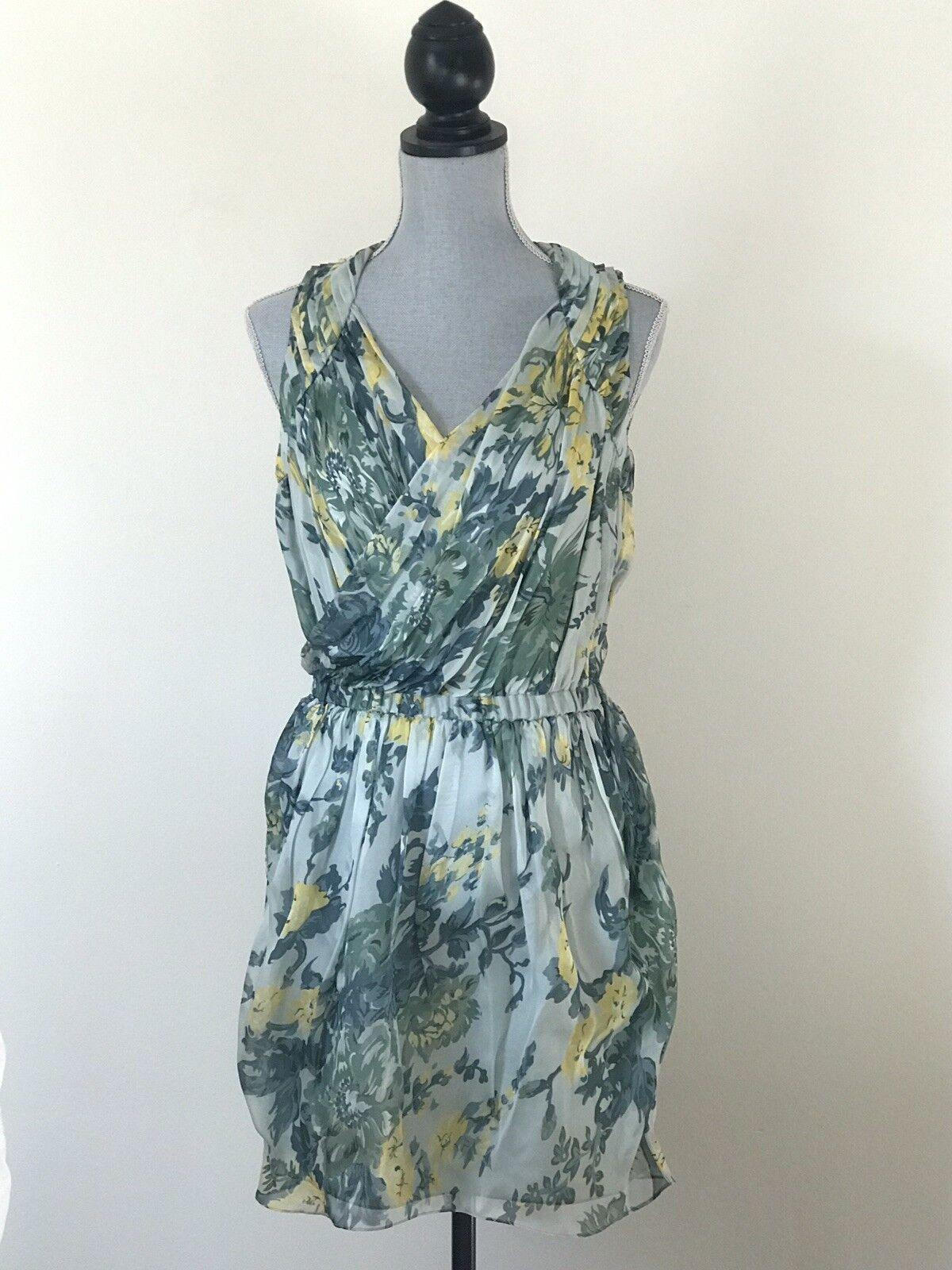 Elizabeth and james james james Floral Silk Dress Medium 99a451