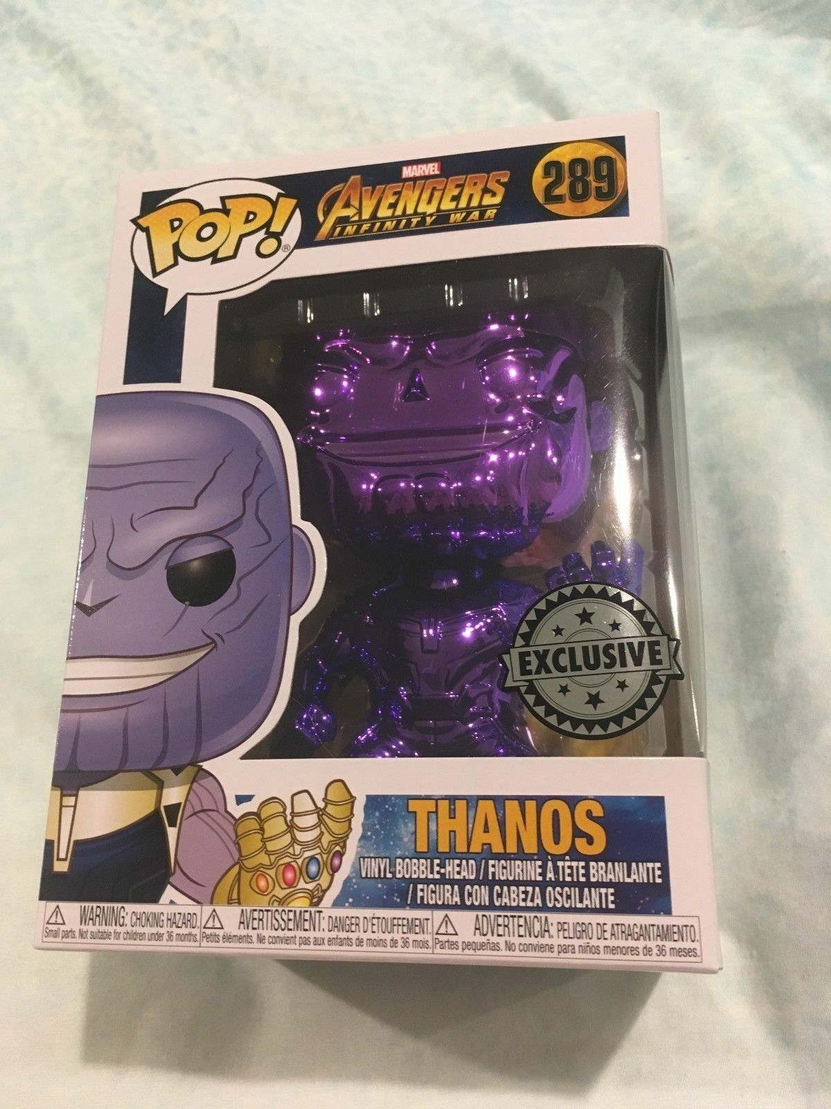 BRAND NEW FUNKO POP VINYL THANOS CHROME EXCLUSIVE  289 RARE