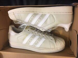 nuove adidas originali superstar talco bianco metallico bw1304 scarpe d'oro