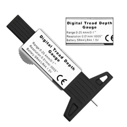 LCD Digital Reifenprofilmesser Tiefenmesser Profiltiefenmesser 0-25.4 mm Silber