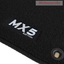 Mattenprofis Velours Fußmatten Logo sw für Mazda MX-5 MX5 NA ab Bj.1989 - 1998