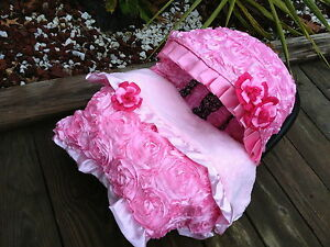 Image Is Loading Set Baby Pink Infant Car Seat Cover Canopy