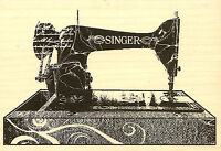 Singer Sewing Machine Wood Mounted Rubber Stamp Impression Obsession