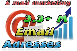 3.3M US UK email adresse worldwide recent valid list without duplicate V2