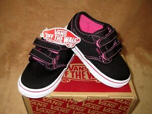 Image is loading NEW-VANS-ATWOOD-V-CANVAS-SHOE-BLACK-MAGENTA- f74e56bf1c