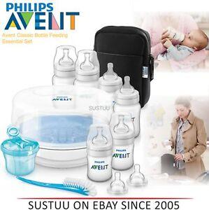 Avent Classic+ Bottle Feeding Essential Steriliser Gift Set│BPA Free│SCD383/01