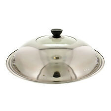 """12"""" 14"""" 15"""" 16"""" 17"""" 18"""" Stainless Steel Glass Stir Fry Lid Cover for Wok Fry pan"""