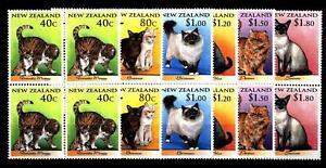 NUOVA-ZELANDA-1998-Nuovo-anno-cinese-Anno-della-tigre-Gatti-in-quartina