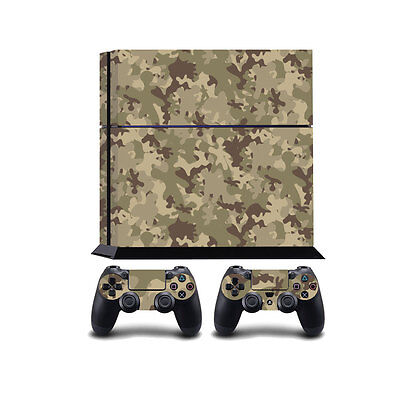 Camuflaje Ps4 Playstation 4 Cobertor Vinilo/playstation 4 Ps4 Pegatina De Video Game Accessories