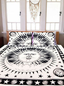 Mandala-Burning-Sun-amp-Moon-Duvet-Doona-Cover-Throw-Quilt-Cover-Bohemian-Bedding