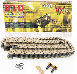 Honda CBR900RR Y 1 2 3 Firebade 2000 to 2003 Models DID Gold X-Ring Drive Chain