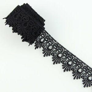 3-Yards-Black-Fabric-Polyester-Applique-Venise-Lace-Trims-DIY-Sewing-Crafts