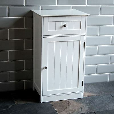 Bathroom Cabinet 1 Door 1 Drawer Freestanding Storage Unit Wood By Home Discount