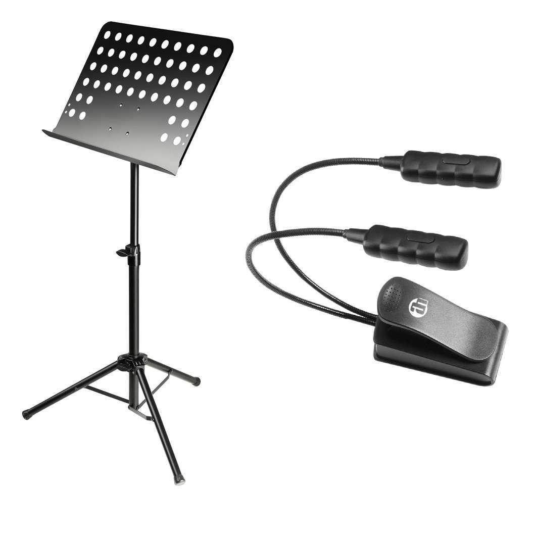 Adam Hall SMS2 Music Stand Console + Ultra Bright LED Desk Lamp Gooseneck Lamp