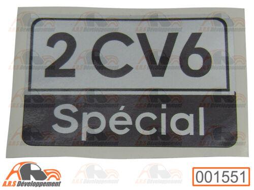 MONOGRAMME autocollant 1551 STICKER malle Citroen 2CV6 SPECIAL de coffre