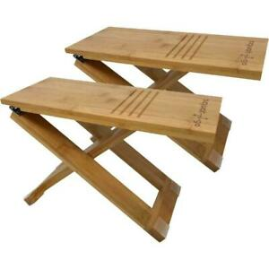 Terrific Squat N Go Bamboo X Fully Adjustable Folding Toilet Stool Set Cjindustries Chair Design For Home Cjindustriesco