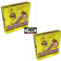 Pulparindo hot salted tamarind Flavor 2x20 mexican candy 40pcs deal W/real fruit