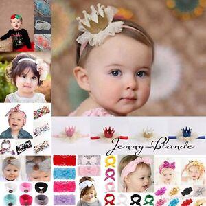 Image is loading Infant-Baby-Boy-Girls-Elastic-Bow-Hairband-Headband- 3ac251fab85