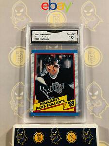 1989-O-Pee-Chee-Wayne-Gretzky-325-10-GEM-MINT-GMA-Graded-NHL-Hockey-Card