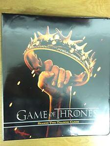 Game Of Thrones Season 2 Official Rittenhouse Binder