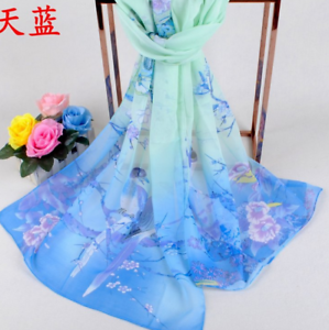 Women-Blue-And-White-Porcelain-Print-Voile-Cotton-Scarf-Wrap-Lady-Shawl-5