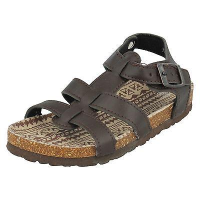 Jungen Unbranded Braun Riemchen Sandalen mit Knöchelriemen Style N0035