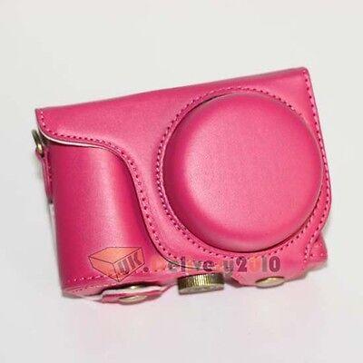 New Camera Ever Ready Case Bag For Samsung WB800F WB 800F WB-800F+ Strap Fuchsia
