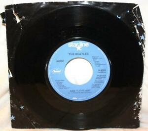 THE-BEATLES-IF-I-FELL-AND-I-LOVE-HER-45-VINYL-MONO-X-6283