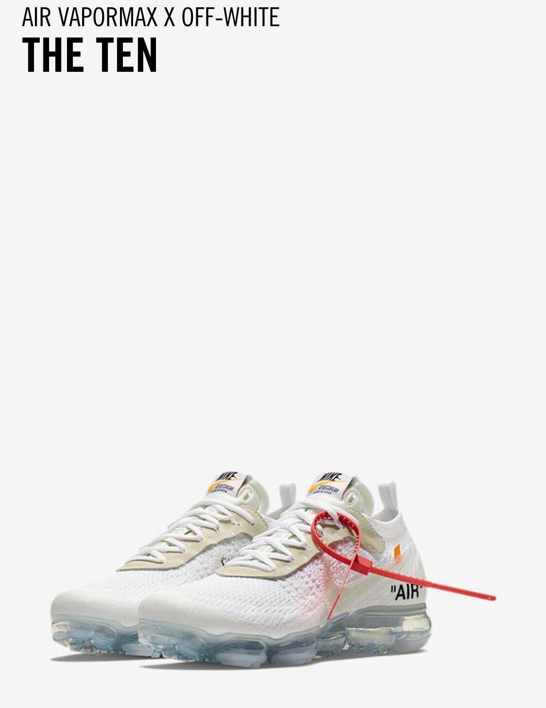 Nike Air Vapormax Flyknit x bianco sporco i dieci Da Uomo Taglia UK12  13 EU47.5