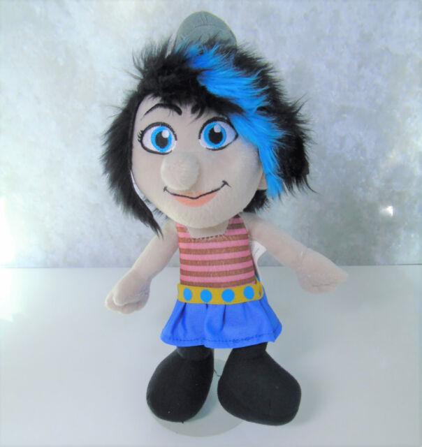 Plush Girl Smurf Kellytoy Vexy Smurfette 14 Stuffed Doll Blue Hair