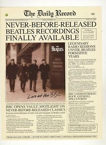 Details about Beatles Live At The BBC Capitol Records Press Release Mint  Condition