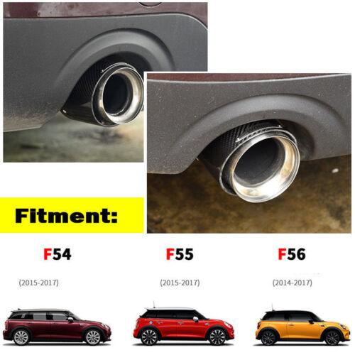Carbon Fiber Steel Exhaust Pipe Tail Muffler Tip JCW for Mini Cooper F54 F55 F56