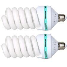 2X 150W 220V 5500K E27 Video Studio Continuous Light Daylight Bulb Tricolor Bulb