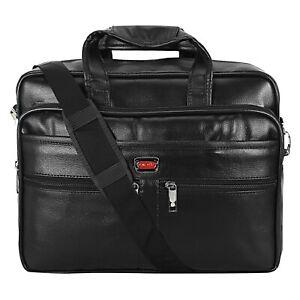 BumBart Collection Leather 15.6 inch Shoulder Sling Laptop Unisex Messenger Bag