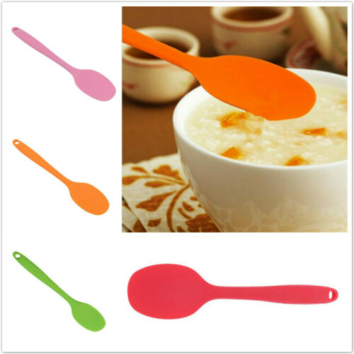 Non-Stick Silicone Spoon Spatula For Cooking Baking Cake Mix Butter Kitchen LA