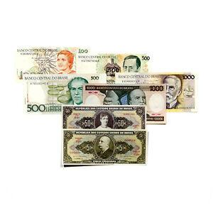 7-different-Brazil-paper-money-1970-039-s-80-039-s-Au-Unc