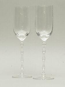 2-x-Weinglas-Suesweinglas-Rosenthal-Polygon-Vintage-RAR-21-cm