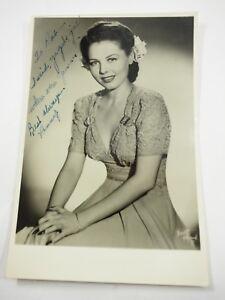 "Penny Edwards autograph to Patrice Wymore Flynn 4"" x 6.5"" B&W Photo 1940s"