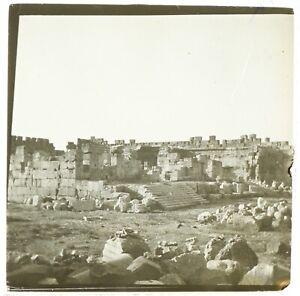Sito Archeologico Oriente Libano ? Foto Stereo Vintage Placca Da Lente