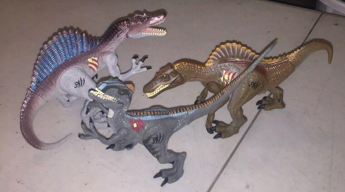 Hasbro-Jurassic  Park-Aqua Spinosaurus Spinosaurus Velociraptor - 2000  coloris étonnants